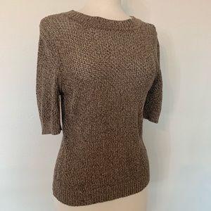 PENDLETON Beige open knit short sleeve sweater